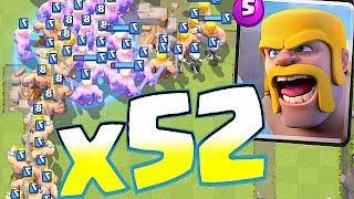 Clash Royale - x52 BARBARIANS FLOOD!! (swarm gamplay deck)