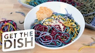 How to Make Naturally-Dyed Rainbow Pasta | Get the Dish