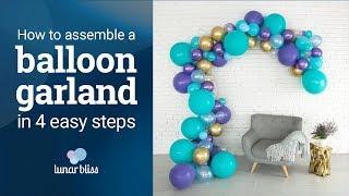 Lunar Bliss Balloon Arch & Garland Kit Instruction Video