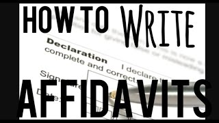 How to Make an Affidavit (Step by Step) - SELF REP INFO