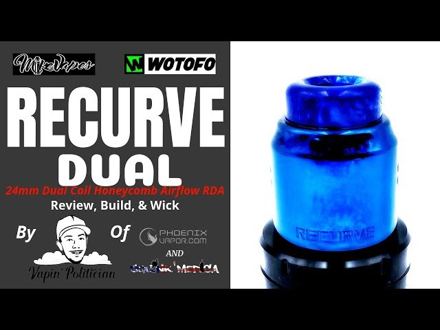 Recurve DUAL RDA by Mike Vapes X Wotofo - How it was really conceived + GET ONE FREE