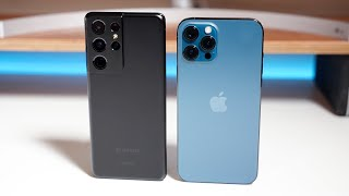 Apple iPhone 12 Pro Max vs Samsung Galaxy S21 Ultra 5G - Which Should You Choose?