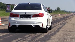 720HP BMW M5 F90 Gorilla Performance - REVS & DRAG RACING