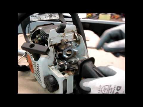 БЕНЗОПИЛА STIHL MS 180 плохо заводится,- ремонт карбюратора/ repair and carb tuning