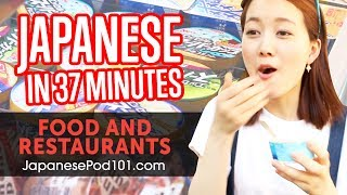 Learn Japanese In 37 Minutes - ALL Food And Restaurants Phrases You Need