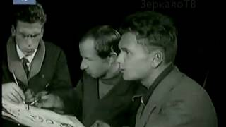 """""""Они рисовали в три руки"""" юность Кукрыниксов, Москва, 1932, кинохроника"""