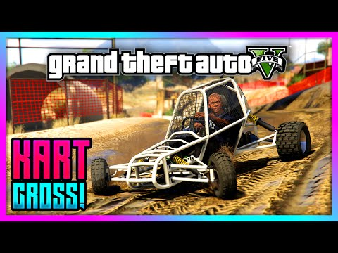 GTA 5 - AWESOME Kart Cross Mod + Handling! - Fun Offroad Kart Gameplay! (GTA V)