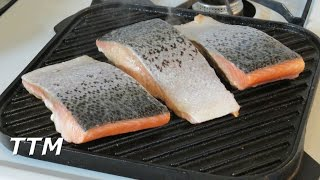 How To Cook Salmon On A Stove Top Cast Iron Grill~Easy Cooking