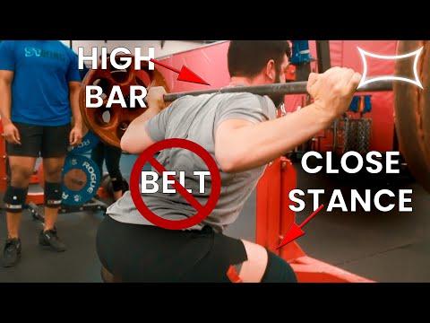 How To Properly High Bar Close Stance Squat | Jesse Burdick | Super Training Gym