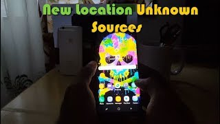 Galaxy S9 Unknown Sources missing/new location
