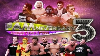 FaMniversary 3 - The Biggest Event in WWE Games History LIVE SATURDAY JUNE 27th on Youtube!