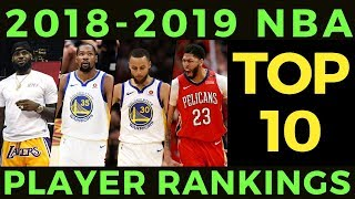 Number 2 will SHOCK you! [2018-19 NBA TOP 10 Players]