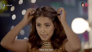 Stylish Wedding Hairstyle & A Quick Hair Hack For Short Hair With Hina Khan