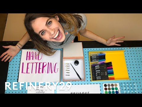 5 Days of Calligraphy Hand Lettering | Try Living With Lucie | Refinery29