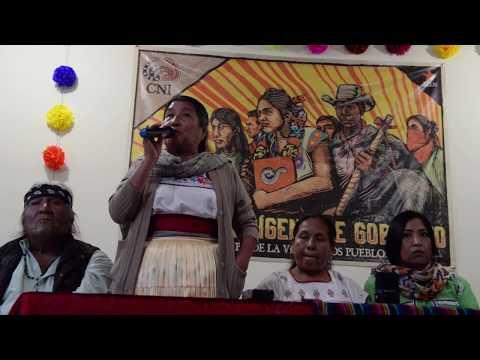Marichuy, Congreso Nacional Indígena, y Raquel Padilla Ramos en Sonora 10 de Enero 2018.