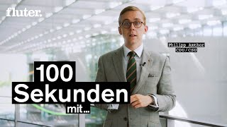Philipp Amthor –CDU/CSU – 100 Sekunden mit den jüngsten Abgeordneten im Bundestag