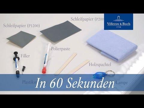 In 60 Sekunden: Reparatur Acryl & Quaryl® | Villeroy & Boch