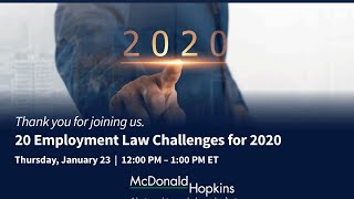 20 Employment Law Challenges for 2020