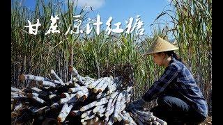 砍2000多斤甘蔗,熬了100多斤甘蔗原汁红糖,一家人忙了2天【滇西小哥】