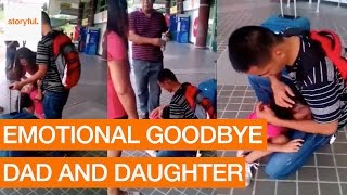 Emotional Goodbye Between Dad and Daughter at Davao International Airport (Storyful, Family)