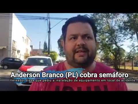 O vereador Anderson Branco (PL) divulgou vídeo em que cobra a Secretaria de Trânsito de Rio Preto.