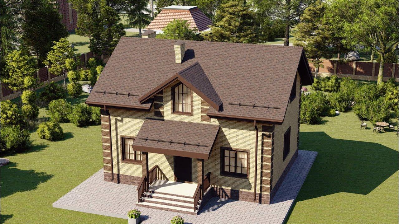 Проект дома 105-C, Площадь дома: 105 м2, Размер дома:  9,6x7,7 м