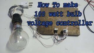 How To control 100 Watt Bulb Using potentiometer