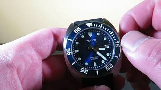 PANTOR SeaLion Automatic Mens Diving Watch Review - Smaller Seiko TURTLE?!