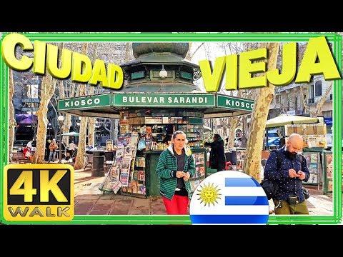 【4K】WALK Ciudad Vieja Montevideo Uruguay UY walking tour 4k