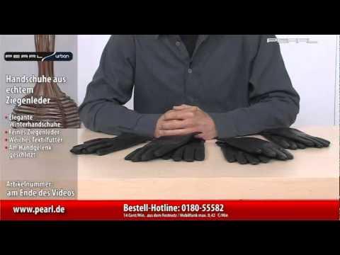 PEARL urban Damen-Handschuhe aus echtem Ziegenleder, Gr. 5,5-6