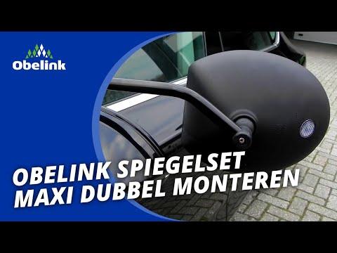 Obelink Spiegelset Maxi Dubbel - Hoe monteer ik caravanspiegels? | Obelink Vrijetijdsmarkt