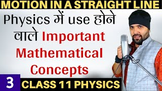 Mathematical Tools for Motion in a Straight Line Class 11 Physics