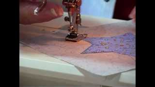 How To Sew Simple Fused Applique With Machine Blanket Stitch - Quilting Tips & Techniques 017