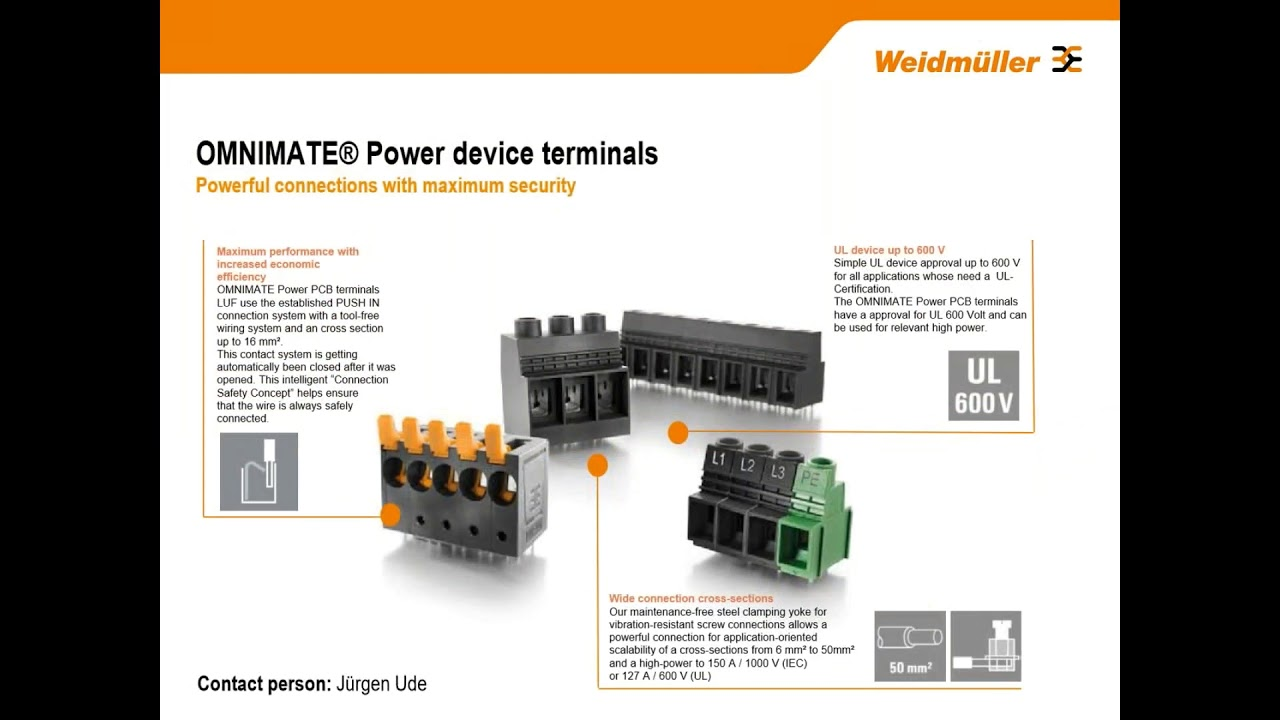 Weidmuller PCB SMT & Power Connectors & Terminals
