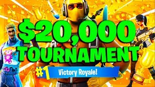 WE DID SO GOOD! $20,000 Friday Fortnite Tourney w/ Upshall!  #ConsoleGang (Fortnite Battle Royale)
