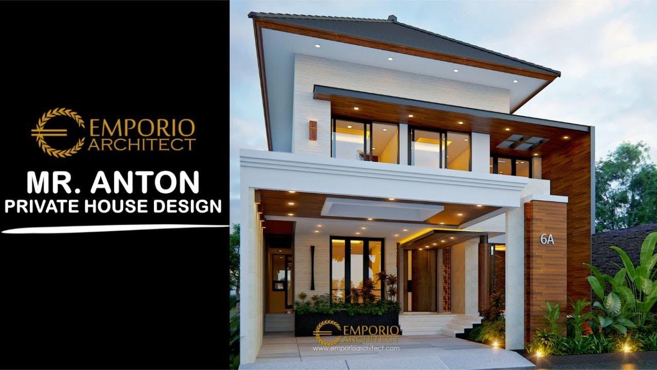 Video 3D Desain Rumah Modern 2 Lantai Bapak Anton M. Purba di Jakarta