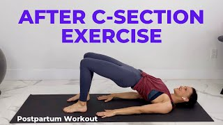 After C-Section Exercise (Postpartum Workout After C Section)