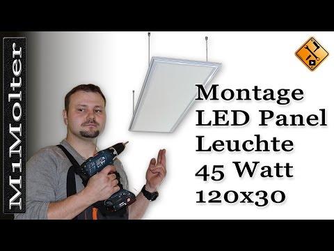 LED Panel 120x30 - Deckenleuchte Montageanleitung von M1Molter.