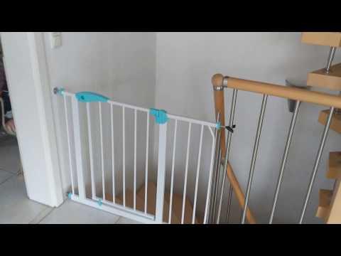 Treppenschutzgitter Einbau und Test
