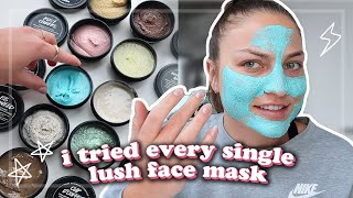 i tried every single LUSH face mask and this happened