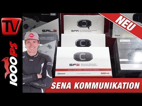 "SENA Bluetooth Kommunikation am Motorrad - günstige ""SF"" Serie im Detail"
