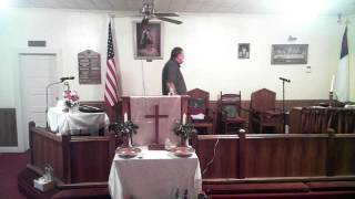 Pastor Marty Laney preaching out with the old in with the new