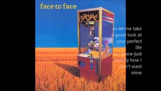 Face to Face Velocity (lyrics)