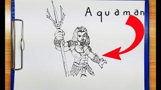 How To Turn Words AQUAMAN into Superhero DC Comic AQUAMAN Cartoon | Drawing Aquaman