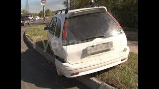 Перекресток в южной части Хабаровска не поделили водители встречных иномарок. Mestoprotv