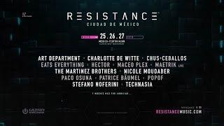 RESISTANCE Ciudad de México Lineup Announcement