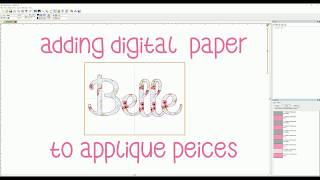 Adding Digital Fabric Background To Applique Designs