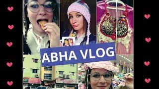 Abha Vlog 💕 (5 riyal shop + gold market + street food)