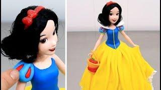 How To Make A Disney SNOW WHITE Doll Cake   Pastel Muñeca Princesa Blancanieves