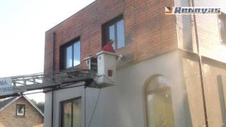 Medinio fasado valymas, plovimas be chemijos - ECO valymas